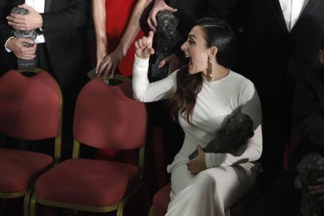 Candela Peña, durante los últimos Premios Goya. | Antonio Heredia