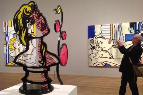 'Mujer con luz de sol', en la exposición de Lichtenstein en Londres.   C. Fresneda