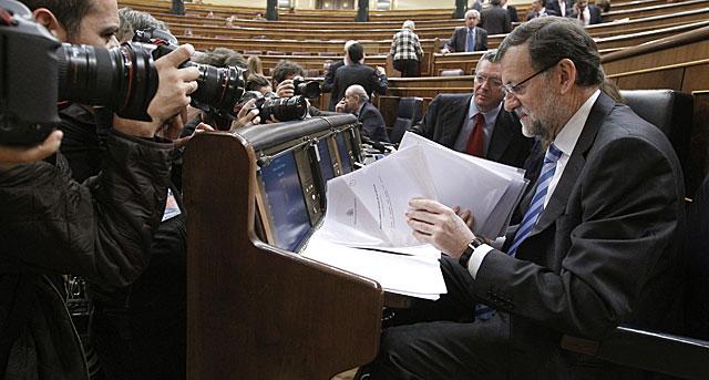 Mariano Rajoy, este jueves en la segunda jornada del Debate. | Fernando Alvarado / Efe