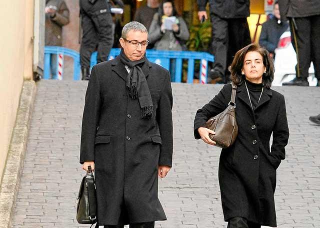 Diego Torres y su mujer el pasado sábado en Palma. | Foto: C. Forteza