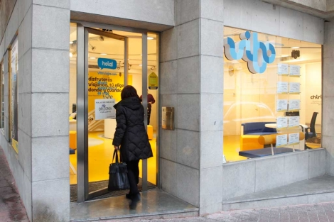Una de las agencias que siguen abiertas al público pese a la directriz de Orizonia. | J. Avellà