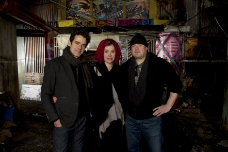 Tom Tikwer, Lana y Andy Wachowsky.   Jay Maidment