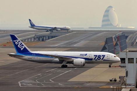 Uno de los 787 de ANA.   Afp