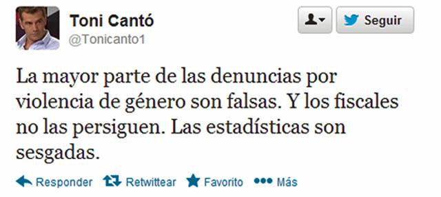 Uno de los 'tuits' de Toni Cantó. | E.M.