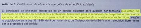 Artículo 8 del borrador de la futura 'etiqueta energética' al que ha tenido acceso ELMUNDO.es.