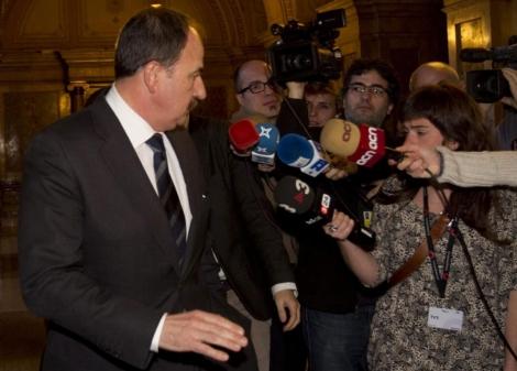 Xavier Crespo ha conocido su imputación por la prensa en el Parlament.   Efe