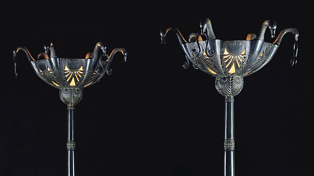 Detalle de dos lámparas que se subastarán en mayo.| Christie's