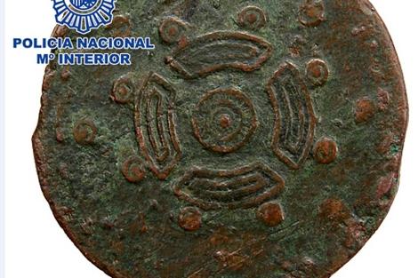 Imagen de la moneda recuperada. | E.M.
