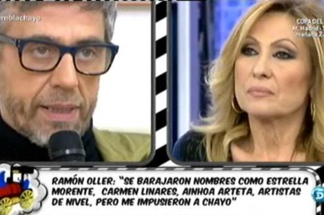 Ramón Oller y Rosa Benito en Sálvame. | Telecinco.es