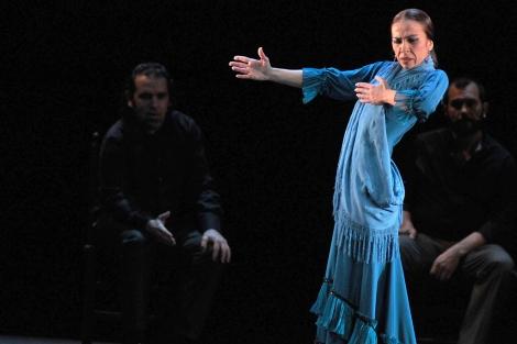 Isabel Bayón, durante el estreno de su espectáculo en Jerez. | Cata Zambrano