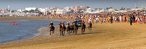 Carrera de caballos en Sanlúcar de Barrameda.   José F. Ferrer