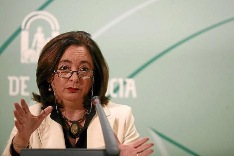La consejera de Educación, Mar Moreno, en una comparecencia de prensa. | E. Lobato
