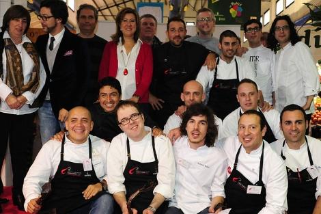 Participantes en el concurso de cocina creativa de Dénia. | EL MUNDO