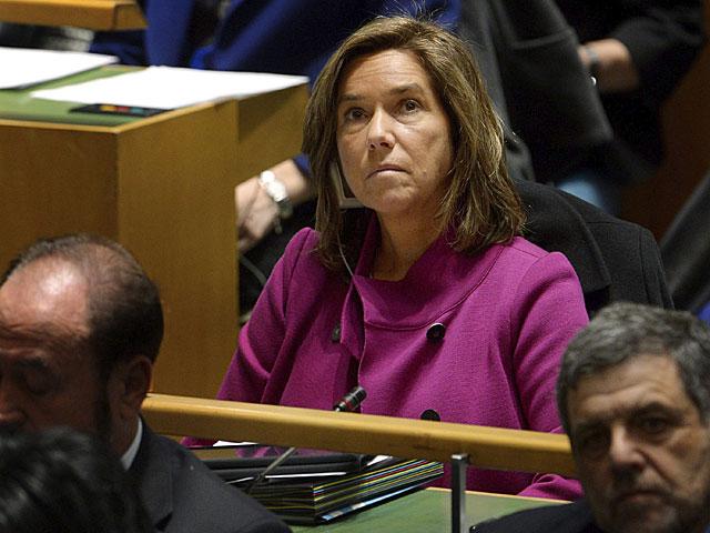 La ministra de Sanidad, Ana Mato, ayer en la comisión de la ONU sobre la Mujer. | Justin Lane / Efe