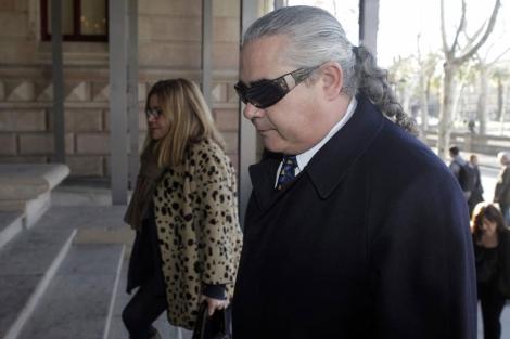 Pallerols, a su llegada a los juzgados. | Antonio Moreno