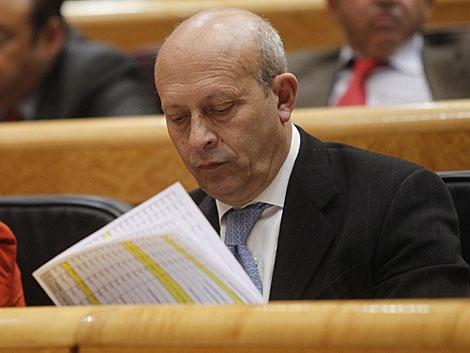 El ministro de Educación, José Ignacio Wert, ayer en el Senado. | José Aymá
