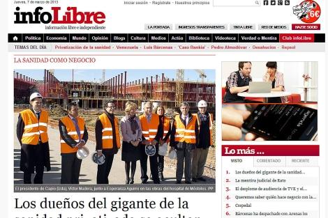 Cabecera del estreno de infoLibre.