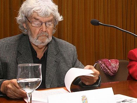 El líder de AGE, Xosé Manuel Beiras, en una conferencia. | El Correo Gallego