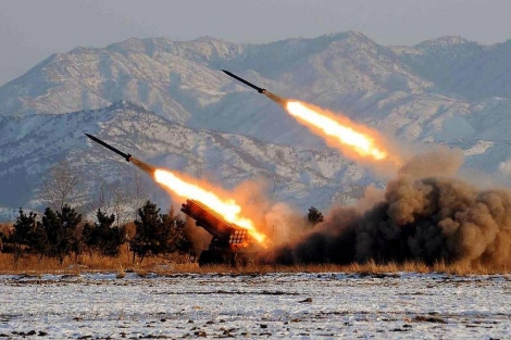 Pruebas con misiles en Corea del Norte en 2009.   Afp