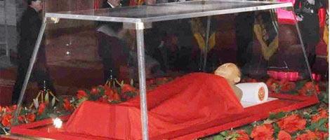 Cuerpo sin vida de Kim Jong-Il.