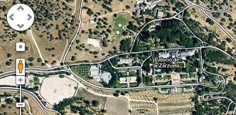Vista del complejo de la Zarzuela en Google Maps.