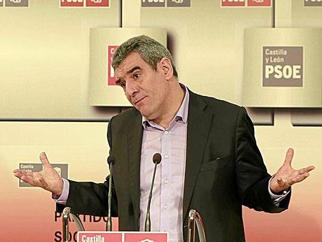 El secretario general del PSOE de Castilla y León, Julio Villarrubia.