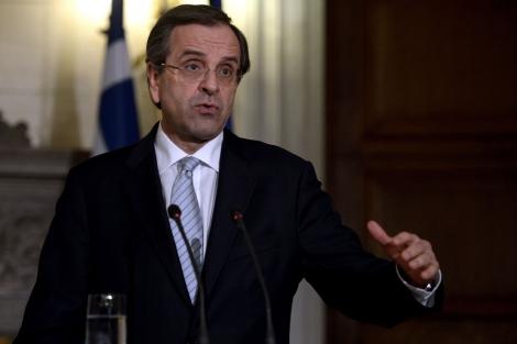El primer ministro griego, Antonis Samaras. | Afp