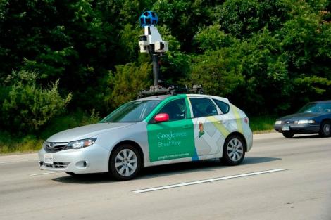 Uno de los vehículos del servicio Street View, en el estado de Virginia. | Afp