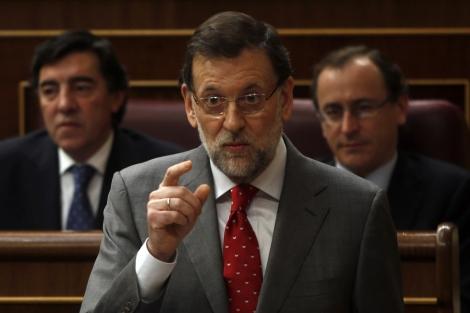 Mariano Rajoy durante su comparecencia en el Congreso. | Reuters
