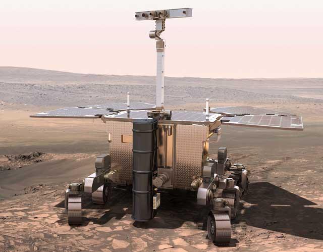 Reconstrucción artística del robot ExoMars. | ESA