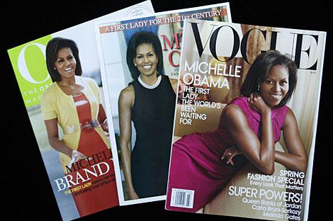 Michelle Obama, en otras portadas que ha protagonizado.   Gtres