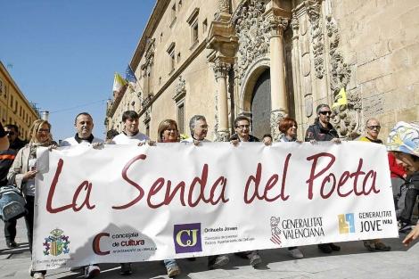Cabecera de la ruta del poeta en su edición de 2012. | Roberto Pérez