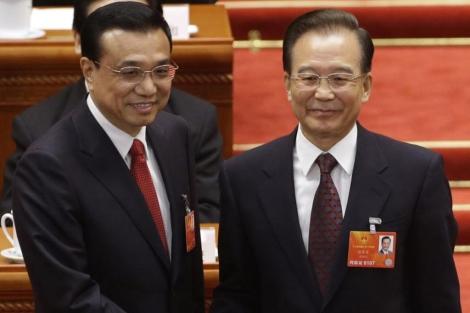 Li Keqiang y Wen Jiabao