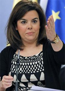 Soraya Sáenz de Santamaría. | Efe