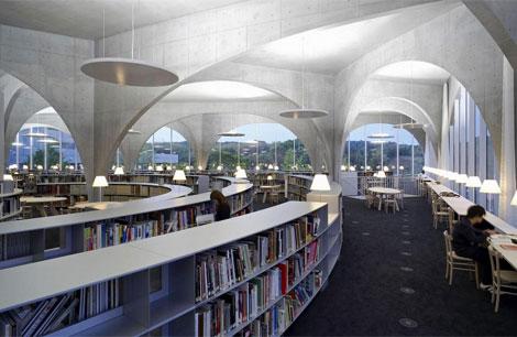 Interior de la Biblioteca de la Universidad Tama Art de Tokio. | Efe