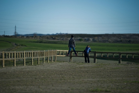 Las obras del Parque de la Gavia se interrumpieron por la crisis.   Gonzalo Arroyo