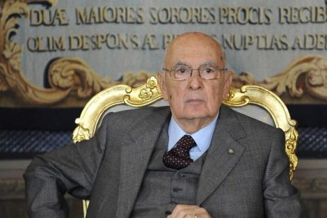 El presidente de la República de Italia, Giorgio Napolitano, en Roma. | Efe