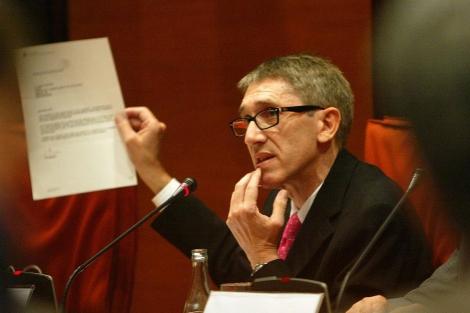 Agustí Colomines en una comisión del Parlament. | Domènec Umbert