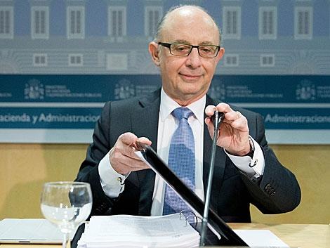 Cristóbal Montoro, en el Consejo de Política Fiscal y Financiera. | Gonzarlo Arroyo