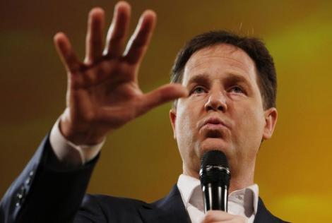 El viceprimer ministro Clegg, en una conferencia en Brighton este mes.   Reuters