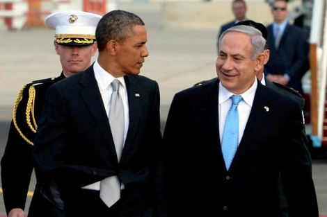 Barack Obama y Benjamin Netanyahu.
