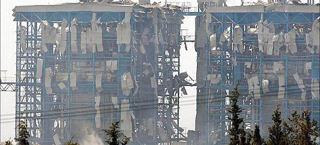 Explosión en una base naval en Chipre en 2011.