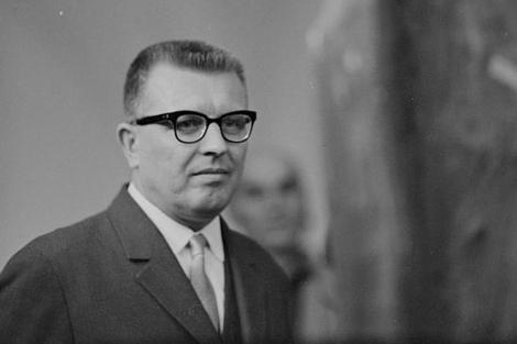 Čestmír Císař, durante su etapa como dirigente comunista.