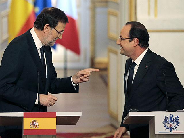 Rajoy y Hollande, tras la rueda de prensa conjunta en el Elíseo. | Jacques Demarton / Afp