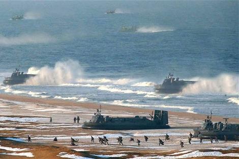 La imagen manipulada con photoshop por Pyongyang.   Afp