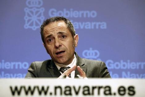 El consejero portavoz del Gobierno Foral, Juan Luis Sánchez de Muniáin. | Efe