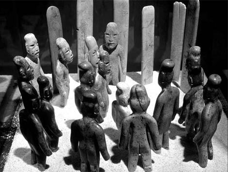 Ofrenda olmeca 1000-600 (aC) en el Museo Nacional de Antropología
