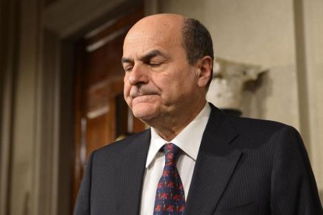 Bersani tras comunicar su renuncia.| Afp