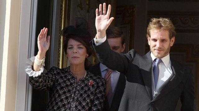 La Princesa Carolina y su hijo Andrea Casiraghi, el pasado noviembre.   Efe
