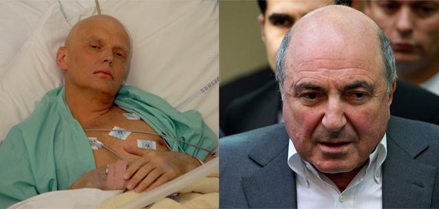 Alexander Litvinenko y Boris Berezovski.| Afp